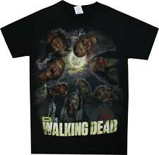 The Walking Dead Walkers In The Moon Light Adult T Shirt & 3 FREE STICKERS
