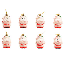 Christmas Tree Hanging Bauble Decorations - 8 x Santa