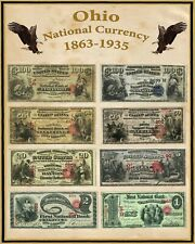 """Missouri U S Large National Bank Notes 16/""""x20/"""" Poster Part of a State set"""
