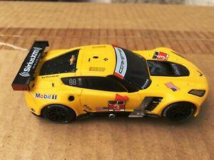 Carrera Go!!! 1:43 Yellow Corvette 3 Slot Car NICE!