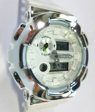 BLING-SHOCK - Custom Casio G-SHOCK G-LIDE GAX-100A - White/Chrome - NEW