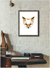 Fox Print Fashion Poster Home Interior Wall Picture Decoration A4