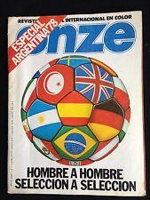 REVISTA ONZE FUTBOL ESPECIAL ARGENTINA 78 MUNDIAL 1978