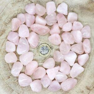 50 x Rose Quartz Crystals Tumblestones Seconds 403g-552g Reiki Healing Wholesale