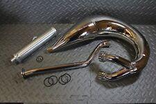 NEW 1987-2006 Yamaha Banshee SHEARER 2:1 single pipes & silencer - CHROME