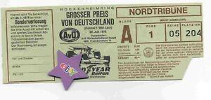 Ticket Formel 1 GP von Deutschland 1979 in Hockenheim,Sammlerstück,rar,Z-3,