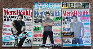 MEN'S HEALTH MAGAZINE SET- 3 Issues from 2014 - October/Nov/Dec - Jason Momoa