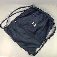 Under Armour Navy Blue Sackpack Drawstring Backpack Sport Gym Bag