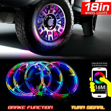 18 Inch RGB Wheel Lights for SUV Truck Sport Cars with 20 inch Wheels or Larger