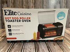 Elite Gourmet Ehd 051b Hot Dog Roller Toaster Oven 30 Min Timer Stainless Steel