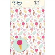 Gift Wrap & Tags - Ice Cream Treats (2 Sheets+Tags)