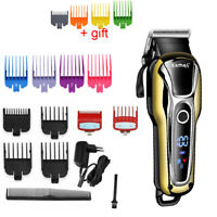 Kemei Professional Cordless Trimmer Men Hair Clippers Gapped Beard Rechargeable