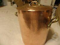 Williams Sonoma 8 quart hammered copper stockpot