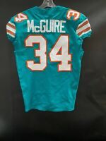 #34 ELIJAH MCGUIRE MIAMI DOLPHINS GAME USED THROWBACK NIKE JERSEY W/SHULA PATCH