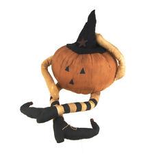 Pumpkin Doll Witch Light-Up Halloween Decor, 13-1/2-Inch
