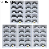 SKONHED 100% Real Mink 3D Volume Thick Daily False Eyelashes Strip Lashes Hot