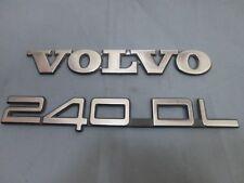 USED 1990 Volvo 240 DL 240DL Rear Trunk Trim Metal Emblem OEM Set 90 91 92 93
