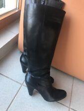 Buffalo Damen Stiefel high schwarz Echtes  Leder Gr.39 kniehoch! Top!