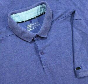 Nike Golf Polo Shirt Adult Medium Purple Solid Golfer Drifit Rugby Casual Mens