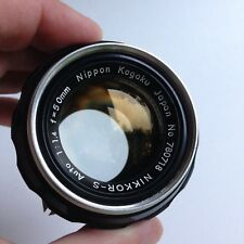 Nikkor-S 50mm F/1.4 Lens Vintage Japan Kogaku Nikon Manual Focus Non AI