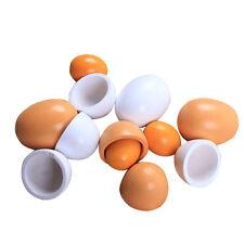 6Pcs Wooden Egg Baby Toddler Yolk Pretend Children Play Kitchen Game Food Toy AU