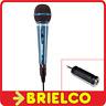 MICROFONO DINAMICO 600 OHMIOS XLR CANON JACK 6.35MM Y ADAPTADOR A 3.5MM BD1641