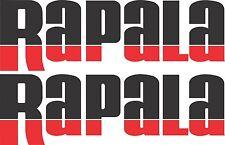 Rapala split colour stickers 2 x 400 x 125 Black / Red Avery Marine grade