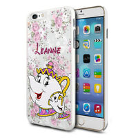 DISNEY PERSONALISED MRS POTTS AND CHIP CUTE Phone Case Cover for Various Mobiles