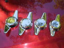 4 new chrome plated spinner caps,5/16 bolt on,2 blade sweep,rat rod mag wheels,,