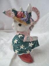 Vintage 1995 Fitz & Floyd Rabbit Bunny Girl Creamer Cotton Tailors