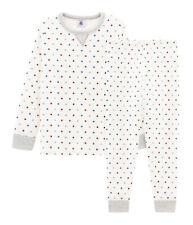 PETIT BATEAU weicher Jungen Schlafanzug Pyjama allover Sterne creme Gr. 98 -146