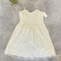 Frenchi Lined Ivory Lace Fit & Flare Dress XL Junior Nordstrom Sleeveless NWT
