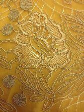 1 metro giallo ricamo Net Pizzo Floreale non tessuto elasticizzato