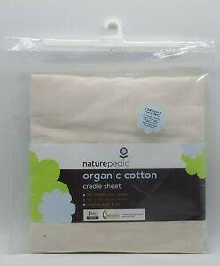 Naturepedic Organic Cotton Nursery Cradle Sheet NIP New 18x36