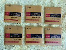 6 Vintage Kodak ~ Color Compensating Gelatin Filters ~ SEALED PACKS