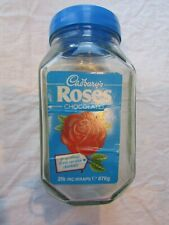 VINTAGE CADBURY'S ROSES GLASS SWEET JAR 2 sided advert etched glass on 2 sides