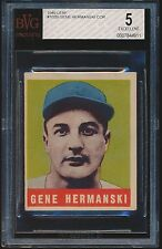 1949 Leaf rookie #102B Gene Hermanski rc (COR) BVG 5 EX bgs
