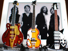 The Beatles Miniature Guitar Set Ed Sullivan Show Set of 3 Guitars Super Mini
