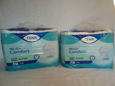 2 x Tena Proskin Comfort Super Incontinence Pads - 7 Drops - 2 x Pack of 36 (72)