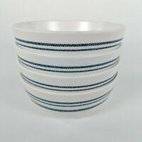 Set of 4 - Hearth and Hand Magnolia - Americana Blue Stripe Melamine Cereal Bowl