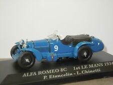 Alfa Romeo 8C 1st Le mans 1934 P.Etancelin / L.Chinetti - IXO 1:43 in Box *43169