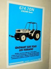Prospectus Tracteur LAMBORGHINI 674 CROSS  Tractor Trattori  Brochure Prospekt
