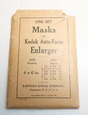 MASKS FOR KODAK AUTO FOCUS ENLARGER