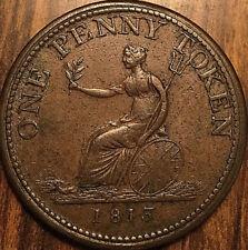 1813 LOWER CANADA WELLINGTON ONE PENNY TOKEN - Breton 984