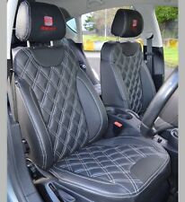 SEAT Leon MK2 Tailored Leather Look Diamond Quilted Car Seat Covers 2005 - 2012