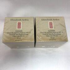2X Elizabeth Arden Ceramide Ultra Lift and Firm Spf 15 Makeup Cameo 07 1 Oz E17