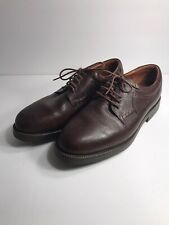 Johnston & Murphy Passport Brown Leather Oxfords Derby Shoes Mens Size 10 M