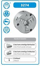 Dreibackenfutter Planspiralfutter 100 mm DIN 6350 Bison Frontmontage