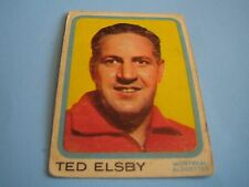 1963 TOPPS CFL FOOTBALL TED ELSBY CARD #48***MONTREAL ALOUETTES***