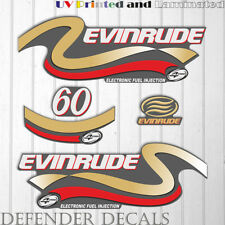 Evinrude 60hp Four Stroke outboard engine decal sticker set kit reproduction 60